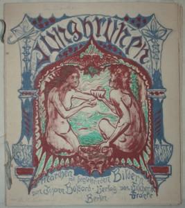 """Johann Bossard, Entwürfe zum illustrierten Buch """"Die Geschichte von einer Mutter"""", Umschlagvorderseite, 1900, JB1434, Foto: Kunststätte Bossard, Jesteburg"""