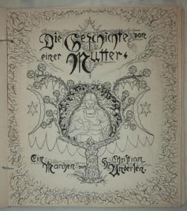 """Johann Bossard, Entwürfe zum illustrierten Buch """"Die Geschichte von einer Mutter"""", Titel, 1900, JB1434, Foto: Kunststätte Bossard, Jesteburg"""