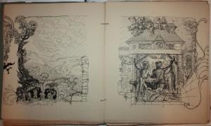 Johann Bossard: Wanderschaft, Entwürfe für ein Künstlerbuch, Titel, 1900, JB1126, Foto: Kunststätte Bossard, Jesteburg
