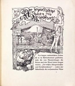 Jungbrunnen, Volkserzählungen mit Bildern geschmückt von Joh. Boßard, Seite1 (n.p.), 1901, BJB2429, Foto: Iris Brandes, Brandes-Design, Buchholz i. d. Nordheide
